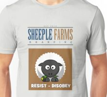 "Delbert says, ""RESIST - DISOBEY"" Unisex T-Shirt"