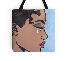 Crying Comic Girl Tote Bag