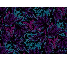 Leaves - Dark Purple/Teal Photographic Print