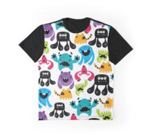 Monster Pattern Graphic T-Shirt