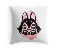 Princess Mononoke Water Colour Throw Pillow