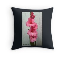 Late Fall Gladiola Throw Pillow