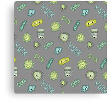 Cute Sick Germs Canvas Print