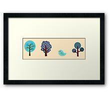 Little Nature Blue Framed Print