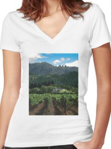 Napa Valley - Far Niente Winery Women's Fitted V-Neck T-Shirt