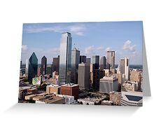 Skyline of Dallas, Texas on a Beautiful Sunny Day Greeting Card