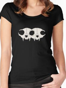 Cat Skulls Women's Fitted Scoop T-Shirt