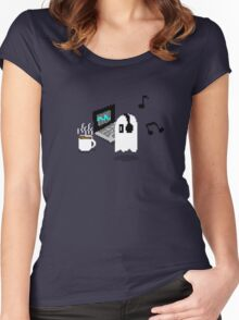 Napstablook Chill Undertale Women's Fitted Scoop T-Shirt