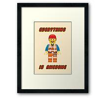 Emmet Brickowski / Everything is Awesome Framed Print