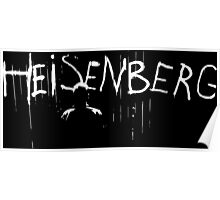 Heisenberg Spray Paint with Heisenberg Shadow - Walter White - Breaking Bad Poster