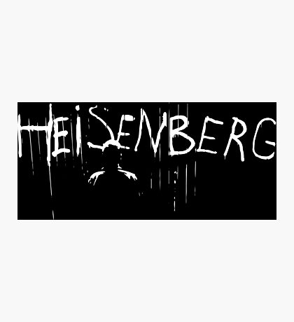 Heisenberg Spray Paint with Heisenberg Shadow - Walter White - Breaking Bad Photographic Print