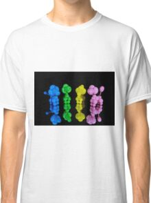 Colorful twisted balloon animal poodles on glass Classic T-Shirt