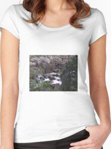 Tamar River rapids. Autumn in Tasmania Women's Fitted Scoop T-Shirt