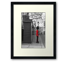Queen's Guard standing guard at Clarence House Framed Print
