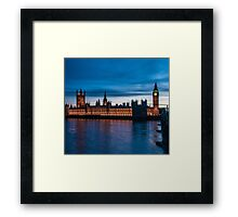 Houses of Parliament & Big Ben, London, England Framed Print