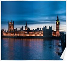 Houses of Parliament & Big Ben, London, England Poster