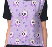 Purple Ghost Gummy Chiffon Top