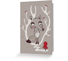 Hello big wolf Greeting Card