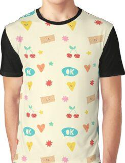 Happy Pattern Graphic T-Shirt