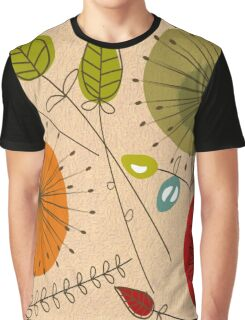 Mid-Century Modern Floral Multi Color Graphic T-Shirt