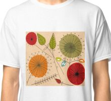 Mid-Century Modern Floral Multi Color Classic T-Shirt