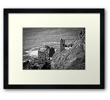 The Crown Mines engine houses, Botallack, Cornwall Framed Print