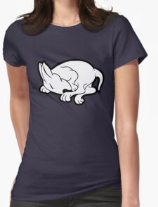 English Bull Terrier Sleeping  Womens Fitted T-Shirt