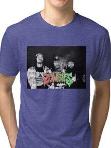 Flatbush Zombies Black & White Tri-blend T-Shirt