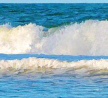 Abstract vibrant splashing waves Sticker