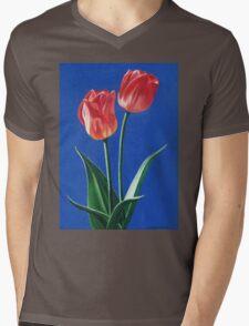 Two Tulips Mens V-Neck T-Shirt