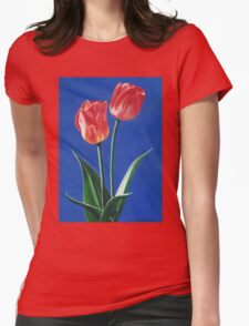 Two Tulips Womens Fitted T-Shirt