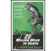 20 million miles to earth Photographic Print