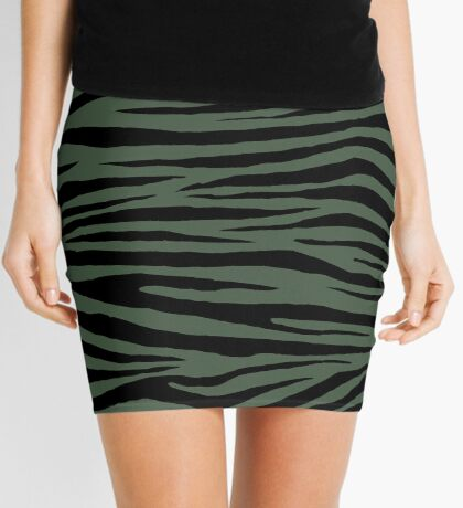 0295 Gray Asparagus Tiger Mini Skirt