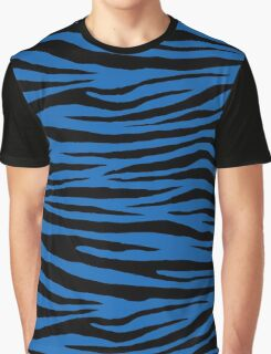 0297 Green-Blue Tiger Graphic T-Shirt