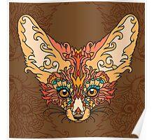 - Desert fox print - Poster