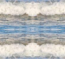 Abstract kaleidoscope of Waves splashing Sticker