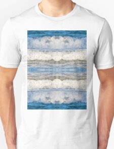 Abstract kaleidoscope of Waves splashing Unisex T-Shirt