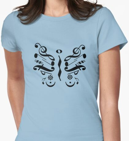 Music Butterfly Womens Fitted T-Shirt