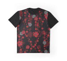 Elegant cute flowers seamless pattern on black Graphic T-Shirt