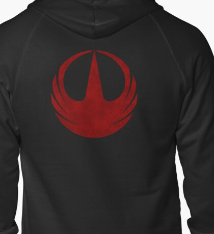 rebel alliance rogue one starbird Zipped Hoodie