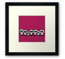 Splatter Pandas Framed Print