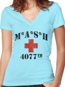 MASH Women's Fitted V-Neck T-Shirt