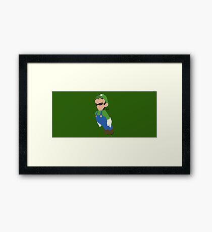 Luigi - Super Smash Bros. Framed Print
