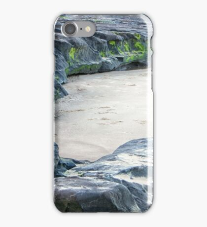 Moss on rocks at beach in Queensland iPhone Case/Skin