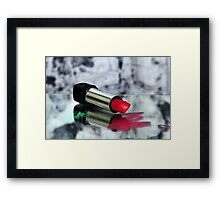 My Lips are Red Framed Print