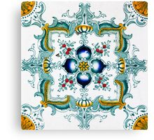Victorian Wall Tiles Pattern Canvas Print