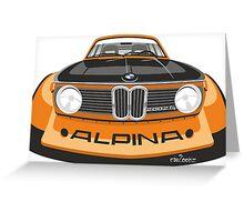 BMW 2002 tii Alpina caricature Greeting Card