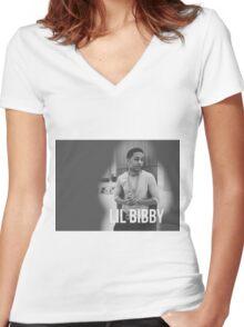 Lil bibby Women's Fitted V-Neck T-Shirt