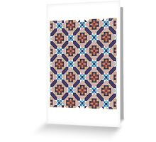 Spanish Moors Mosaic Pattern Greeting Card
