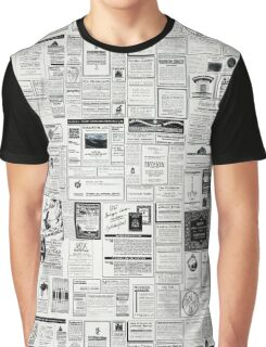 Collage Of Vintage Advertising Graphic T-Shirt